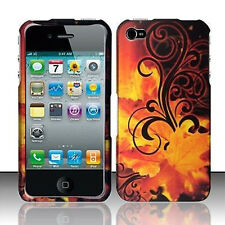 For Apple iPhone 4 4S HARD Protector Case Snap On Phone Cover Golden Leaves
