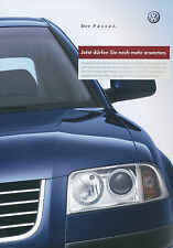 VW Passat folleto 2002 10/02 brochure auto folleto Prospectus brochure Catalog