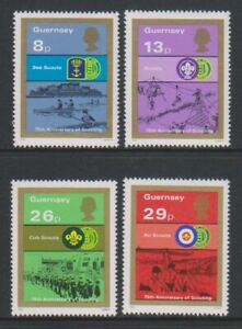 Guernsey - 1982, 75th Anniversary of Scouting set - MNH - SG 259/62