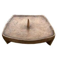 Bronze Leuchter Quadrat 14 cm Bronze candlestick