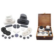 Hot/cold Stone Massage Facial Set 37 Basalt Marble Obsidian White Jade Stones