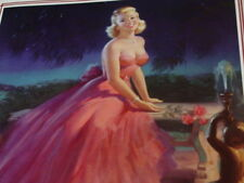 Vintage Art Frahm Moonlight And Roses Pin Up