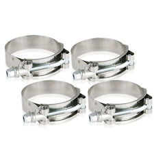 4X 2.5″ Stainless Steel T-Bolt Clamps Turbo Intake Silicone Hose Coulper Clamps