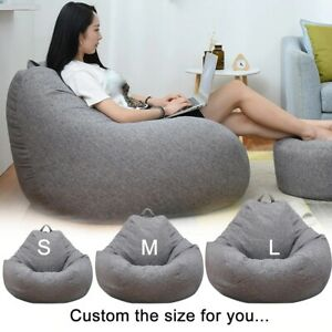 Large Bean Bag Chair Sofa Couch Cover Indoor Lazy Lounger Outdoor for Kids Adult
