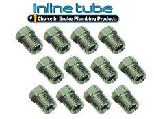 3/8-24 Inverted Flare STAINLESS STEEL Tube Nut Fitting 3/16 Brake Line 12p STN01