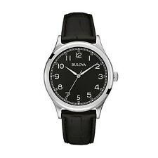 Reloj de Cuarzo Bulova para Hombre Vintage Clásico pantalla analógica Correa de Cuero 96B233