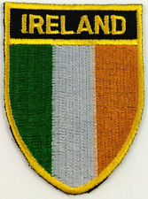 Ireland Flag Shield Crest Patch Embroidered Iron On Sew On Applique Irish