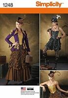Simplicity Sewing Patterns 1248 Misses Steampunk Costumes Size 14-22 R5