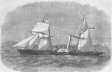 NIGERIA. HM Ship Investigator, intended for Lagos, antique print, 1862