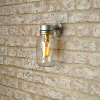 2 X RIGSDALE Outside Wall Light. 20% VAT inc. Industrial Style Jar CE MARKED