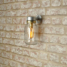 RIGSDALE Outside Wall Light. 20% VAT inc Industrial Kilner Jar Vintage CE MARKED