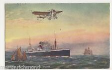 The Lane Monoplane & Ocean Mail Steamer, Tuck 9857 Postcard, B570