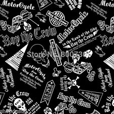 AUTOCOLLANT STICKER 50 X 30cm MOTOR CYCLE MOTO RACE BIKE THE CROW CHOPPER SKULL