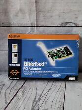 Linskys Etherfast PCI 10/100 Adapter w/Wake-On-Lan for Desktop Computers NIB!