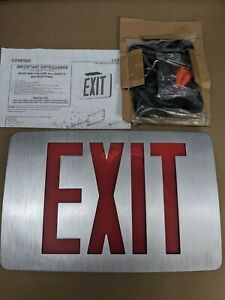COMPASS CCEDRE Exit Sign with Battery Backup, Thin, LED. 2 FACE
