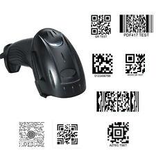 1D 2D QR Code Handheld Barcode Scanner Reader for 8 codes QR Date Matrix