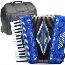 Rossetti, 3032, BLUE Piano Accordion 32 Bass, 30 Key, 3 Switch, Gig Bag & Straps