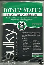 Sulky Totally Stable Iron-on, Tear-Away Stabilizer - BLACK
