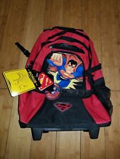 Superman School Backpack with Wheels New DC COMICS  1G CHILDS BAG KIDS