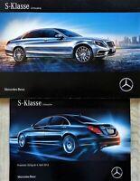 2188) Mercedes S S600 500e Maybach 300h S600 Prospekt 2016 + Preisliste brochure