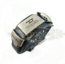 Lot  Men's Cool Punk Rivet Belt Buckle Wristband Genuine Leather Black  Bracelet