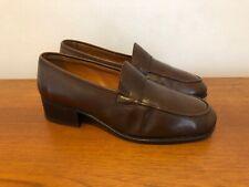 Vintage Original 1970s Christian Dior Monsieur Men's Brown Leather Shoes 7 1/2