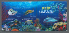 Australia-Reef Safari Aug.2018-Special 3D min sheet fine used cto-Sharks-Fish