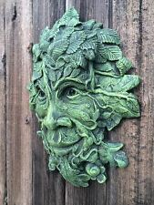 NOW EX-STOCK !  Mythical Green Man Wall Plaque Garden Ornament Latex Mould