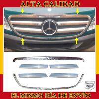 Para Mercedes Sprinter W906 parrilla delantera rejillas cromado 6pz 2006-2013
