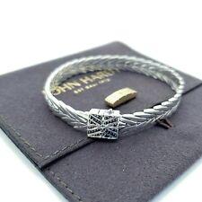f77c7c2c9d41 John Hardy Sterling Silver 8mm Modern Chain Weave Square Black Sapphire  Bracelet