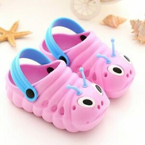 Toddler Kid Girls Boys Sandals Croc Caterpillar Summer Beach Slippers Flip Shoes