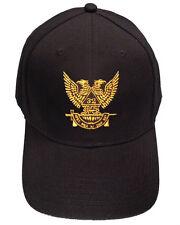 Masonic Baseball Cap Scottish Rite Wings Up - Black Hat with 32nd degree