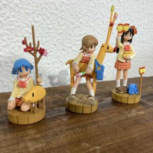 Nichijou promo mini Figure Set of 3 Kaiyodo official authentic
