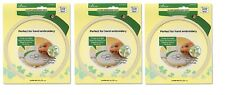 """Clover 8812 7"""" Embroidery Hoop SET OF THREE!"""