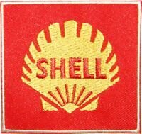 Patch Iron on Advertising Vintage Shell Motor Oil Gasoline Pump Racing ATV  Sign