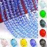 Wholesale 50/100Pcs Rondelle Exquisite Crystal Glass  Beads 4x6mm Multi Color