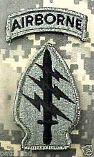 ACU PATCH SPECIAL FORCES WITH AIRBORNE TAB WITH burdock-hook