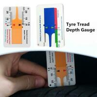 Tyre Tread Depth Gauge Key Ring Tyre Depth Car Wheel Measure 20mm
