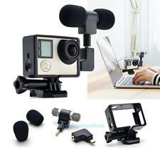 Hi-Fi Microphone Adapter Side Open Housing Case Kit for Camera GoPro Hero 3 3+ 4