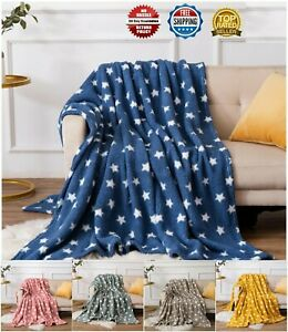 Throw Sofa Bed Blanket Throw Over Bed Spread Twinkly Vibrant Luxury Double