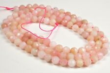 """Peruvian Pink Opal Small Faceted Round Bead - 3.9-4.0 mm - 15.5"""" strand - 6382A"""