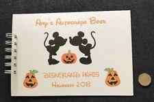 A5 Disneyland Autograph Book HALLOWEEN 🎃 Personalised 20 page HANDMADE