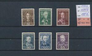 LN83683 Austria 1935 portraits historical figures fine lot MNH cv 180 EUR