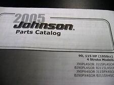 JOHNSON EVINRUDE 2005 90-115HP 4 STROKE PARTS MANUAL 5006041
