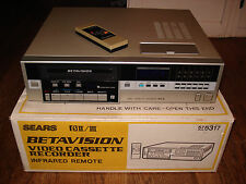 Great Working SEARS 564.53170451 BETA VCR w/ Remote BETAMAX Fully Tested SANYO