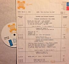 RADIO SHOW: 3/7/88 SEE! WHO, YES, CCR, BEATLES, BTO, DC5, TODD RUNDGREN,BEE GEES