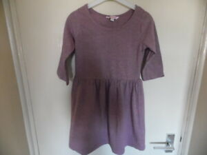 Girls Pink Long Sleeve, Crew Neck Dress from Miss E-vie size 9 years