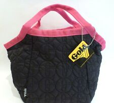 NWT! GOLA Navy Blue Pink Fuchsia Tote Bag Fabric Harlowe England