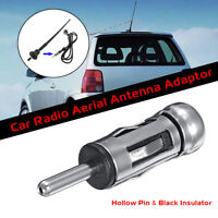 Car Radio Stereo ISO to Din Male Aerial Antenna Tuner Adapter Connector Metal