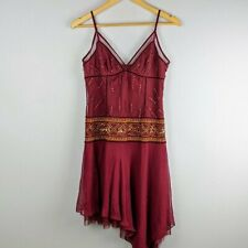 BCBG Max Azria Sequin Beaded Bordeaux Asymmetrical Dress NWT Size Medium